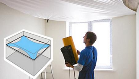Особенности монтажа матового натяжного потолка